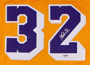 Magic Johnson Signed Lakers Jersey With COA