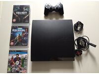 Ps3 Slim with 1 Controller and 3 Games vgc