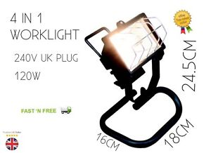 HALOGEN WORK LIGHT 4 IN 1 BRAND NEW 120W 240V FREE DELIVERY