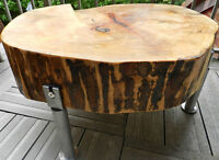 Tree stump side tables by Tree Rings