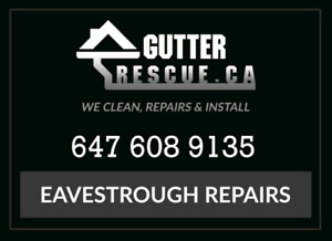 Eavestrough / gutters cleaning and repairs