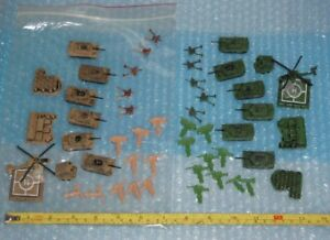 Army Men base, tanks & artillery (52 pieces) **Free Shipping**