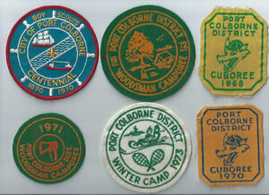 1960'S AND 1970'S PORT COLBORNE BOY SCOUT PATCHES ~ 6 DIFF.