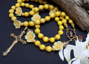 Easter Gift For Godmother ~ Yellow Daffodil Spring Rosary