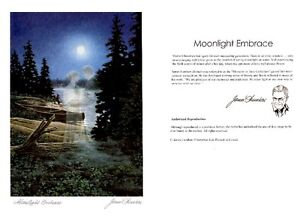 Moonlight Embrace Six Art Cards (NO INVELOPE) Blank By James Lum