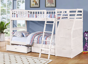 NEW! Twin/Twin Wood Bunk Bed w/ Storage Drawers, Free Delivery! Comox / Courtenay / Cumberland Comox Valley Area image 7