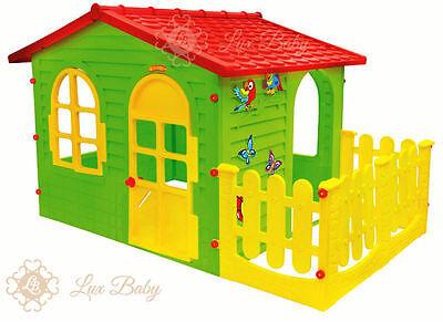 Lux Baby Kinderhaus Kinderspielhaus Spielhaus Gartenhaus mit Terrasse XXL