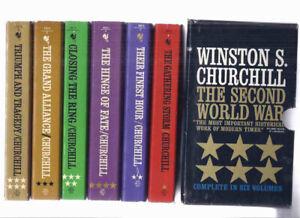 6 volumes WWII -Winston Churchill