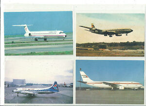 OLDER POSTCARD LOT 11 DIFFERENT AIRPLANE AIRLINE POSTCARDS