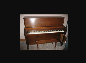 "Baldwin 243 Oak 44"" Upright Piano"