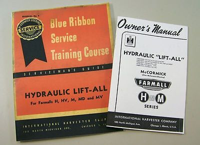 Ih Farmall H Hv M Md Mv Hydraulic Lift-all Owners Service Repair Manual Catalog