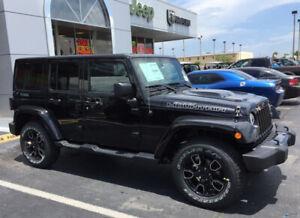 "18"" Jeep JK Wrangler OEM BLACK wheels rims & tires 2016-19"