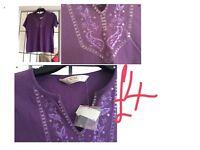 Ladies top purple size medium bnwt