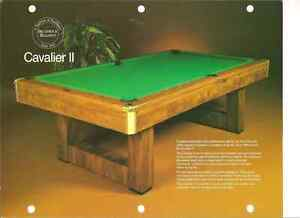 Brunswick 5 ×9 slate pool table