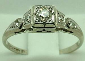 PLATINUM RING P PLATE WITH DIAMOND Warwick Farm Liverpool Area Preview