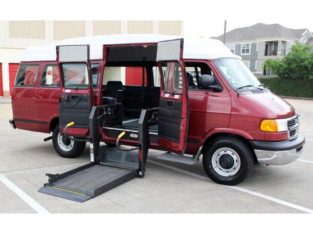 Dodge : Power Wagon Ram Wagon 2001 Dodge Ram 3500 Van **49K MILES** Braun Handicap Wheelchair Lift ~ High-Top