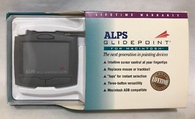 (Alps Glidepoint For MacIntosh IIGS 100850-00 Touchpad ADB 3-button NOS Software)