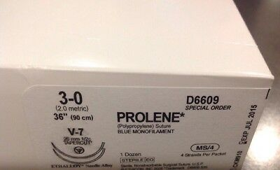 Prolene Blue Monofilament 3-0 36 Ref D6609 12pcs