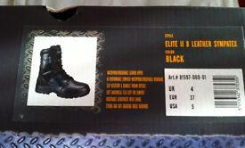 Elite II Leather Sympatex Waterproof Women's Black Magnum Boots, Size UK 4