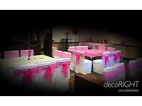 Organza wedding party chair sashes for sale- stock clearance