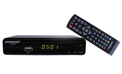 KORAMZI CB-100 Digital TV Converter Box (with USB DVR Recording)