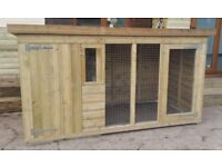 8FT X 4FT 13MM TANALISED DOG KENNEL AND RUN!