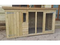 8FT X 4FT 13MM TANALISED SHIPLAP DOG KENNEL AND RUN
