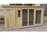 8FT X 4FT DOG KENNEL AND RUN TANALISED