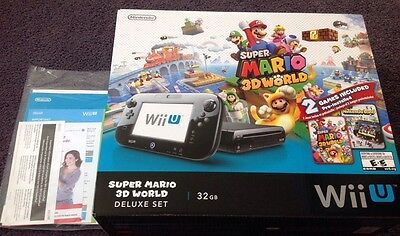 Nintendo Wii U Operation Manual & Super Mario 3d World 32gb Deluxe Set Box, usado segunda mano  Embacar hacia Argentina
