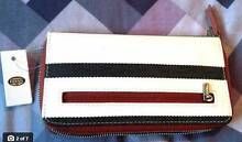 FOSSIL Key-Per zip clutch wallet purse stripe Brand New w/ Tags Cremorne North Sydney Area Preview
