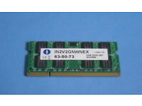 Brand New - 2GB DDR2 667MHz Laptop Ram memory - Brand: Nanya, Perfect condition, Fully working