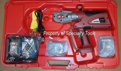 Burndy Pat600li Hydraulic Battery Operated Crimper 6 Ton Crimping Tool New