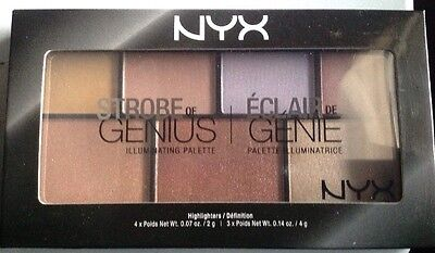 NYX Cosmetics Strobe Of Genius Illuminating Palette STGP01 Face Glow Highlighter