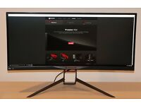 Perfect Condition ASUS Predator X34 3440x1440 Curved Ultrawide 100Hz G-SYNC IPS Monitor