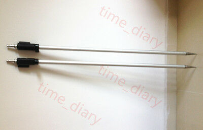 2pcs New 2.15m Surveying Prism Pole 7 Ft Max Height Pole For Leica Type Prisms