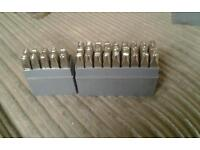 Jhs modelmark punches metal in boxes complete sets of number and letters