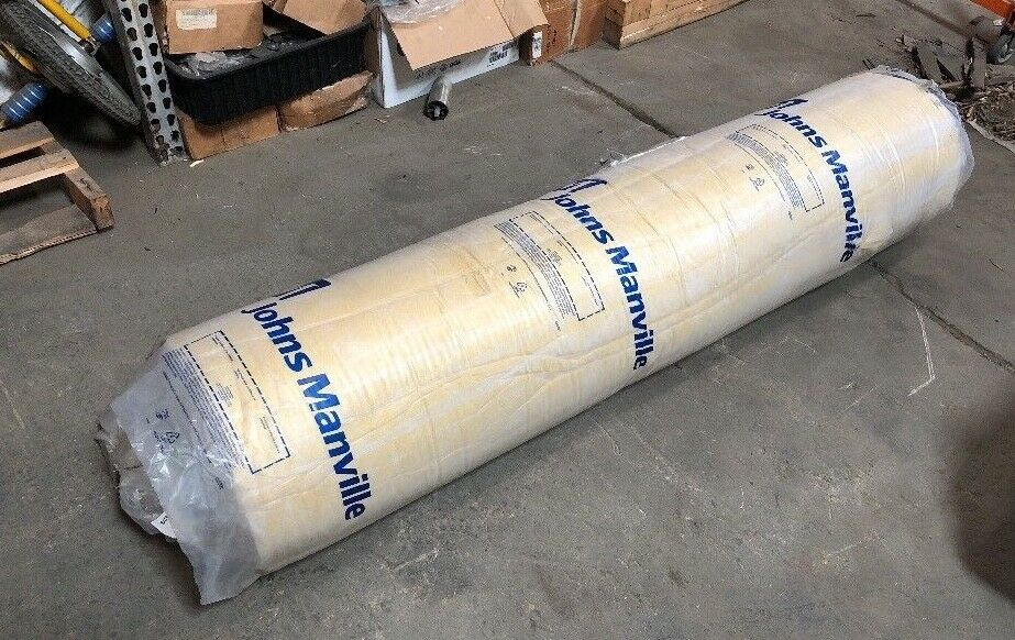 """Aircraft Thermal Blanket Insulation Johns Manville 1""""x72""""x100' Yellow BMS8-48"""