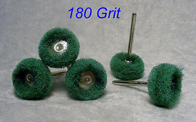 """20pc 180 GRIT 1"""" Abrasive Polishing/Buffing Wheels for Dremel or Rotary Tools"""