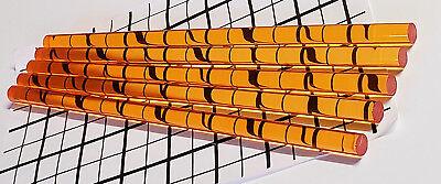 5 Pcs 12 X 12 Inch Long Clear Translucent Amber Acrylic Plexiglass Color Rod