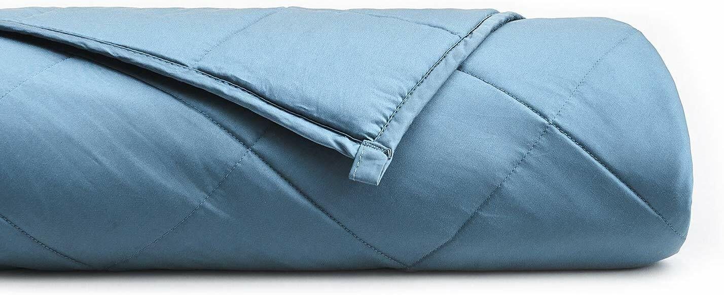 YnM Cooling Weighted Blanket 100% Natural Bamboo Dark Grey