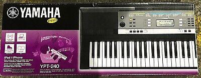 Yamaha YPT-240 61-Key Portable Electronic Keyboard Digital Music Piano - BNIB