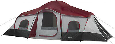 10 Person Cabin Tent - 10 Person 3 Room Instant Cabin Tent Large Outdoor Camping Shelter 20 by 10