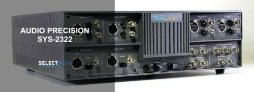 AUDIO PRECISION SYS-2322 DUAL DOMAIN ANALOG AND DSP AUDIO ANALYZER (REF.: 077G)