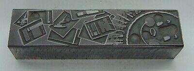Vintage Printing Letterpress Printers Block Sun Papers All Metal