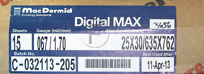 Macdermid Digital Max Sheet Photopolymer Printing Plates Solvent Or Thermal