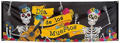 Dia de los Muertos Banner 74x220cm NEU - Partyartikel Dekoration Karneval Faschi ()