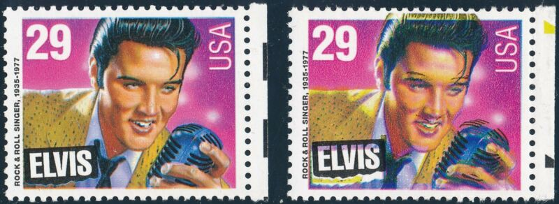 "#2721 Var. 29¢ ""elvis"" Major Color Shift Error Bq2395"