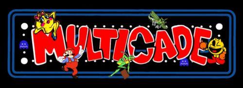 "Arcade Classics Marquee Multicade Art Sticker  16"" × 4"" (01604)"