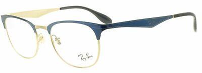 New Authentic RayBan Eyeglasses RX RB 6346 Blue Gold Metal 2872 (50mm Eyeglasses)