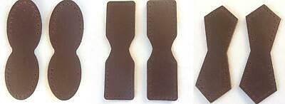 Dark Chocolate Brown Leather (Dark Brown Chocolate Leather Attachment Tabs for Bag Purse Handles or Straps )